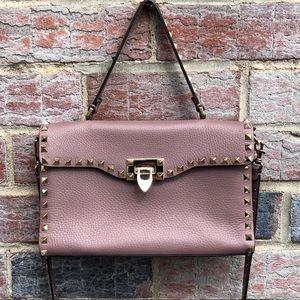 Valentino Grained Calfskin Rock Stud Bag